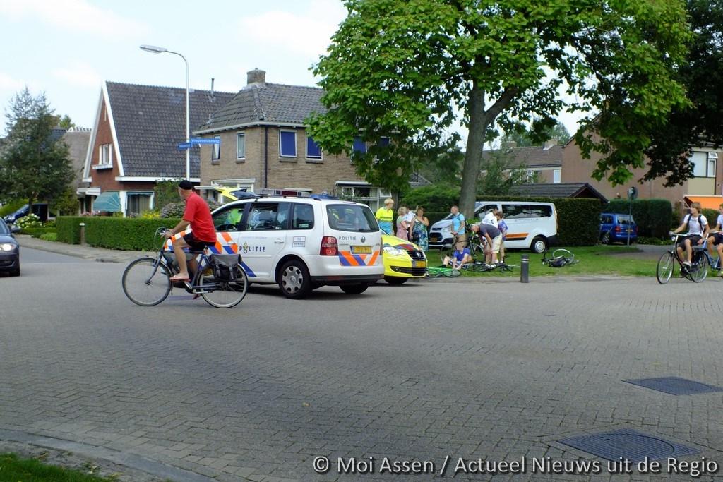 Aanrijding tussen auto en fietser in Assen-Oost