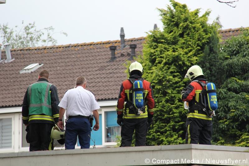 Brandweer gealarmeerd voor afvalbrandje