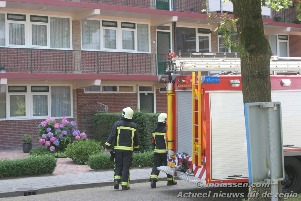 vermoedelijk pannetje op het vuur lijdt tot inzet brandweer