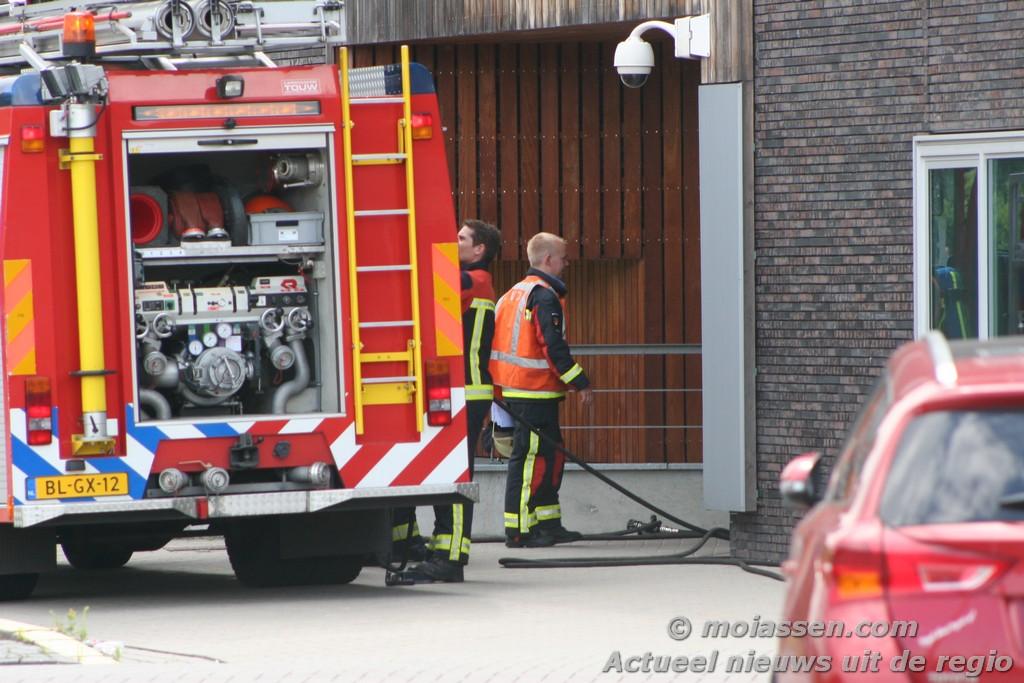 Brand in politiebureau