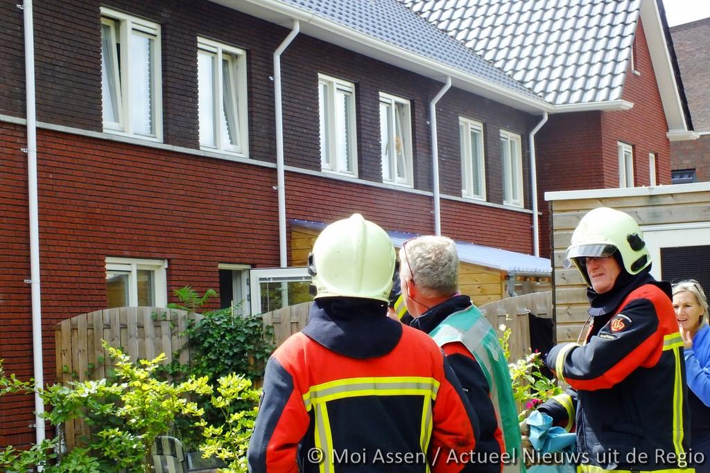 Brandweer Rolde gealarmeerd voor melding in Assen