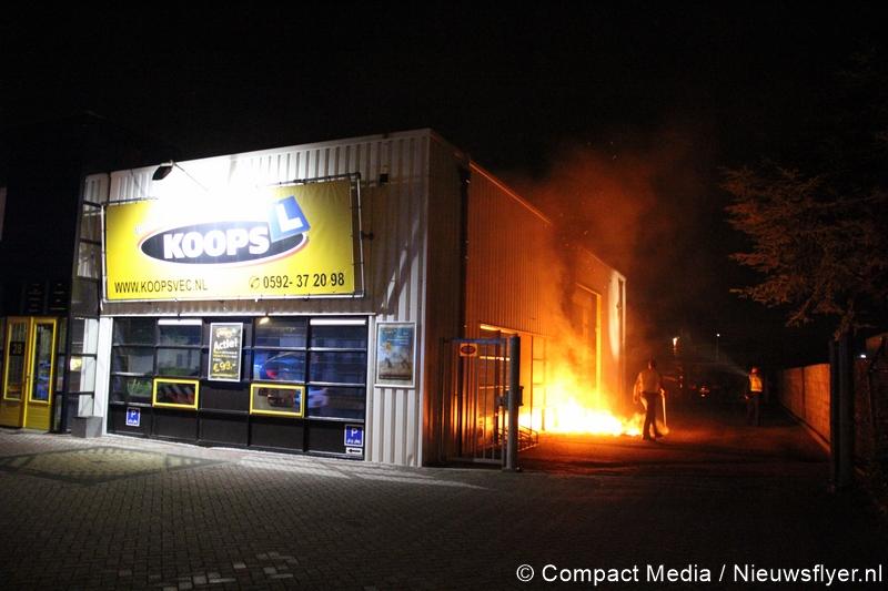 Brand bij verkeerseducatiecentrum in Assen