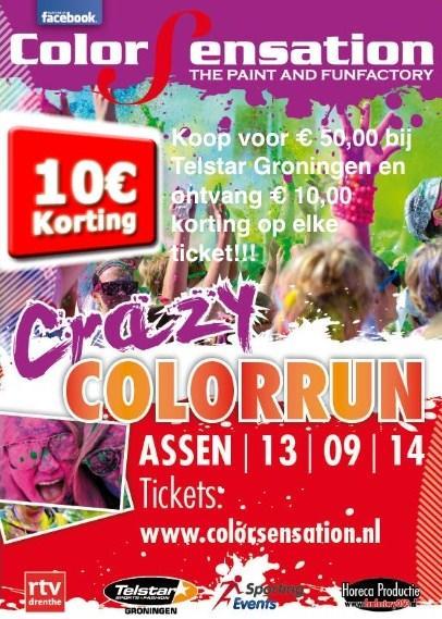 Crazy Colorrun 13 september in Assen