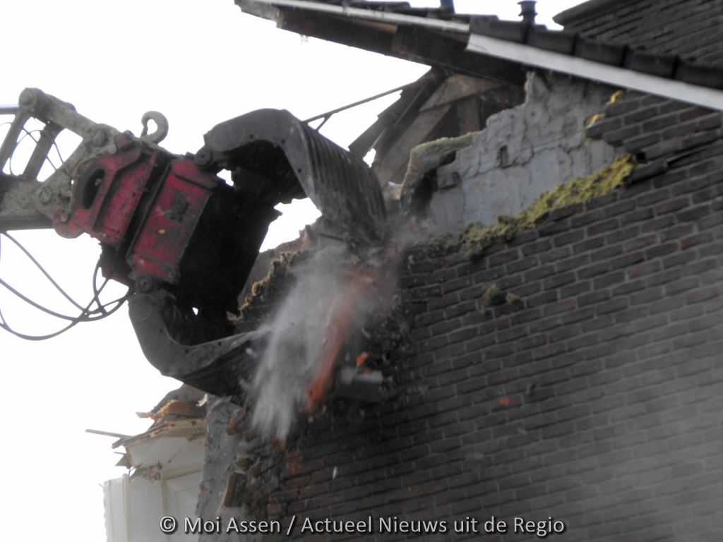 Actie in Assen tegen slopen van huurhuizen Oude Molenbuurt