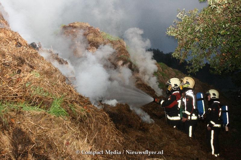 Brandweer Norg langdurig aan het blussen door hooibroei.