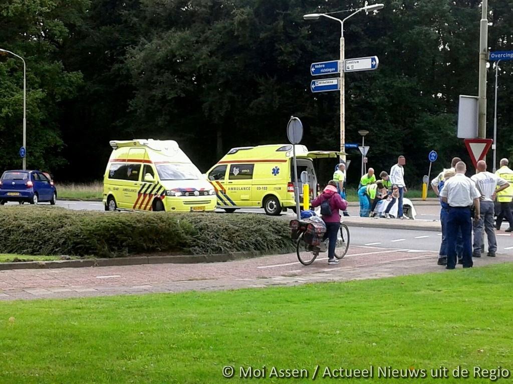 Fietser gewond bij verkeersongeval Assen