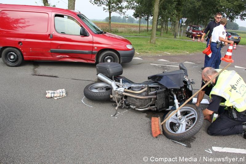 Motorrijder gewond bij verkeersongeval nabij Balloërveld