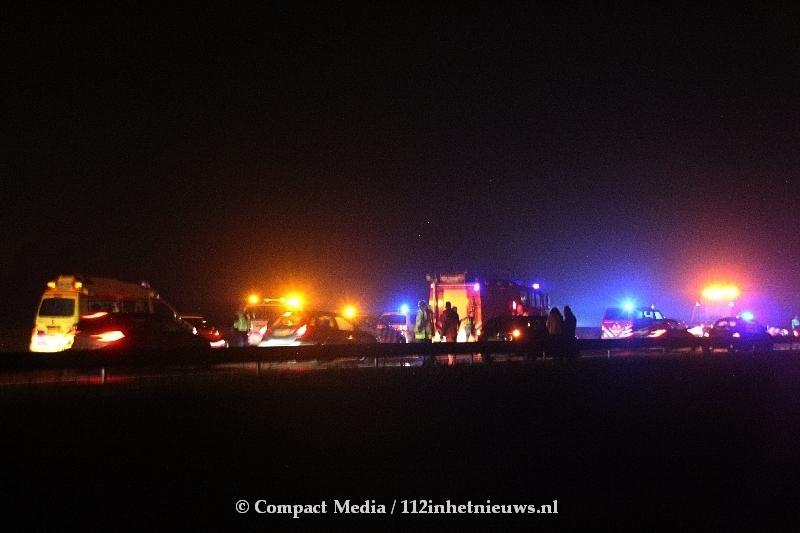 Ravage op de A28 door verkeersongeval bij Eelde
