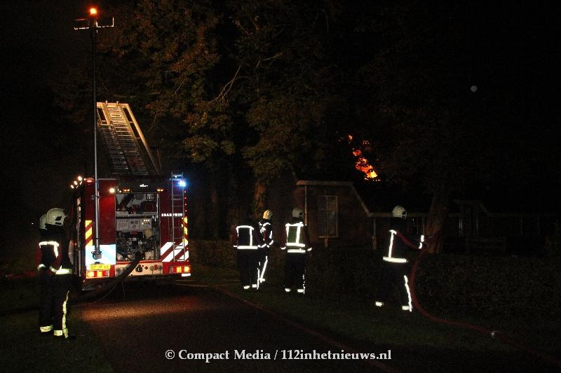 Uitslaande brand in woonboerderij aan de Molenwijk in Smilde