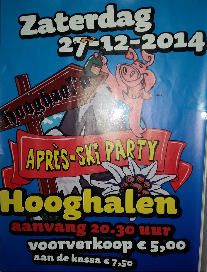 apreski party hooghalen