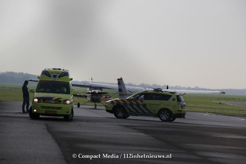 Grootschalige alarmering voor klein vliegtuig