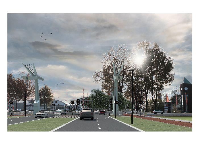Aanleg autobrug en tijdelijke rotonde Industrieweg