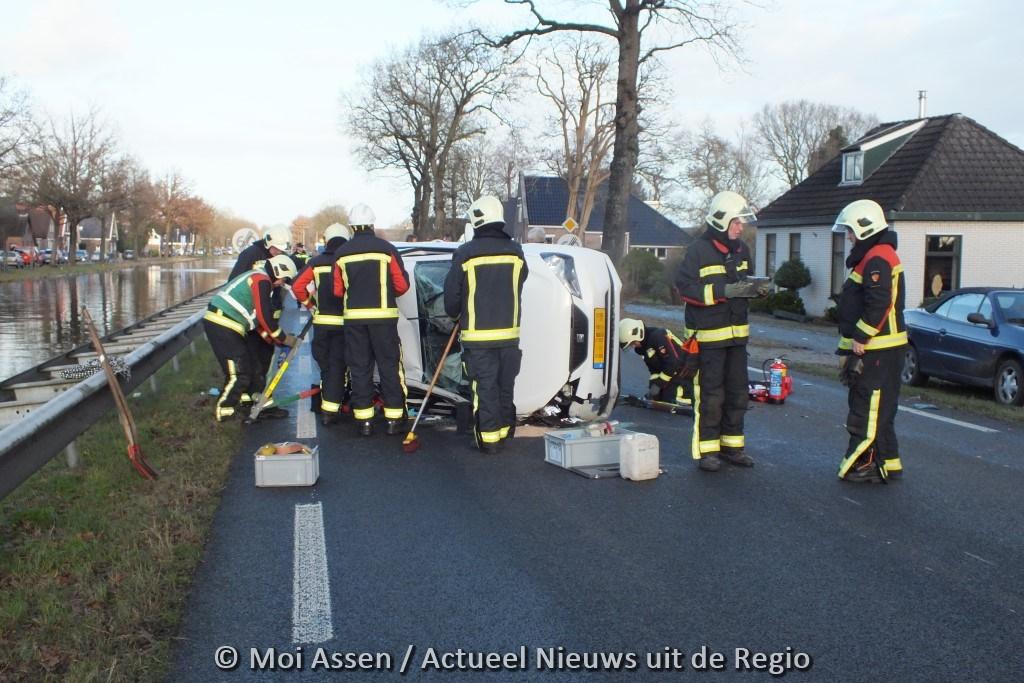 Verkeersongeval op de Hoofdweg N371 in Bovensmilde