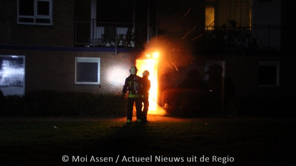 Grote schade na middelbrand aan de Nansenstraat in Assen(Update Foto's)
