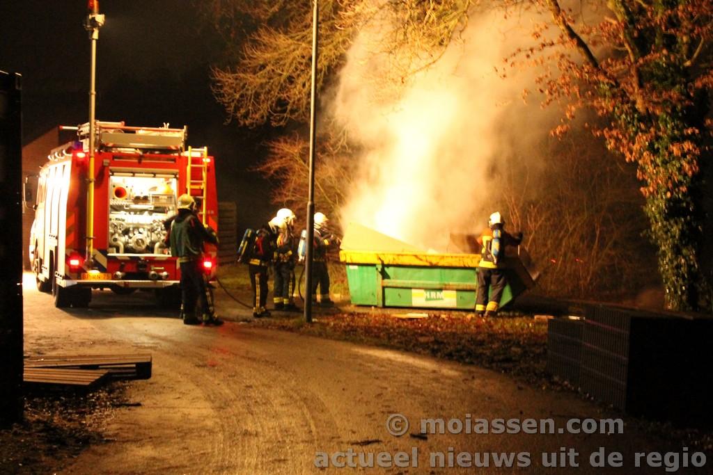 Containerbrand bij GGZ Assen