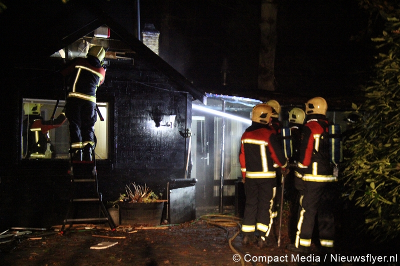 Brand in bungalow in bos Norg