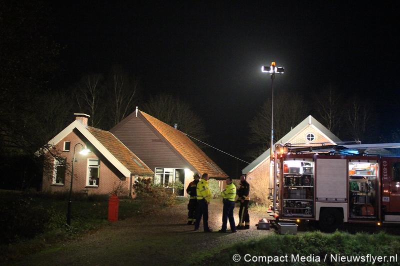Schoorsteenbrand aan de Suermondsweg in Smilde