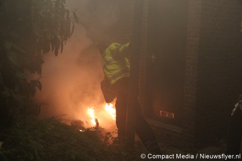 Containerbrand in Centrum Assen