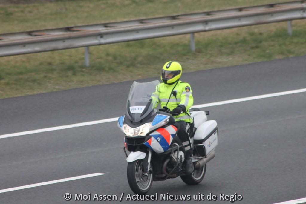 Veertig kilometer per uur te hard op de N33: geen boete maar waarschuwing