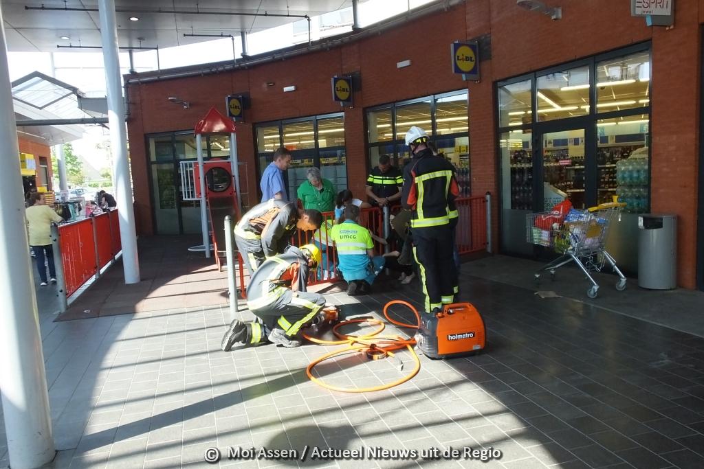 Ongeval bij de Marskramer aan de Kleuvenstee in Assen