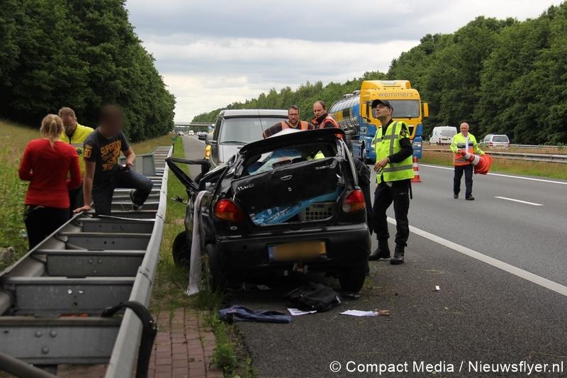 Eenzijdig verkeersongeval op de A28