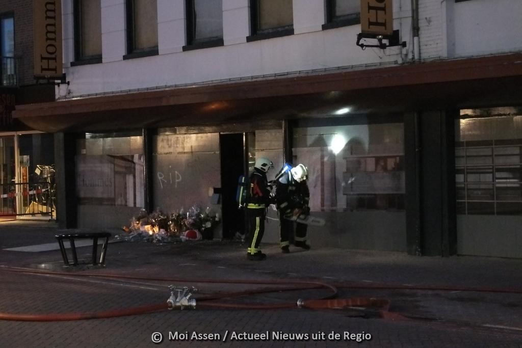 Video:Grote brand in leegstaand pand van het voormalige meubelzaak Hommes
