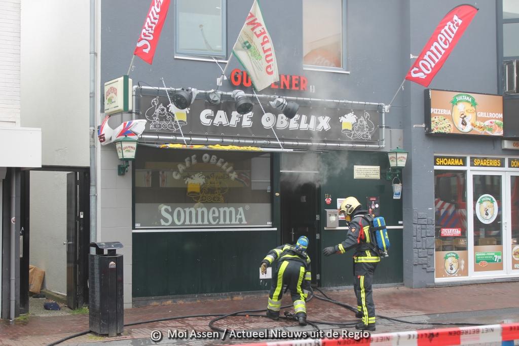 De hele inventaris van  café Obelix in Assen verloren na verwoestende brand