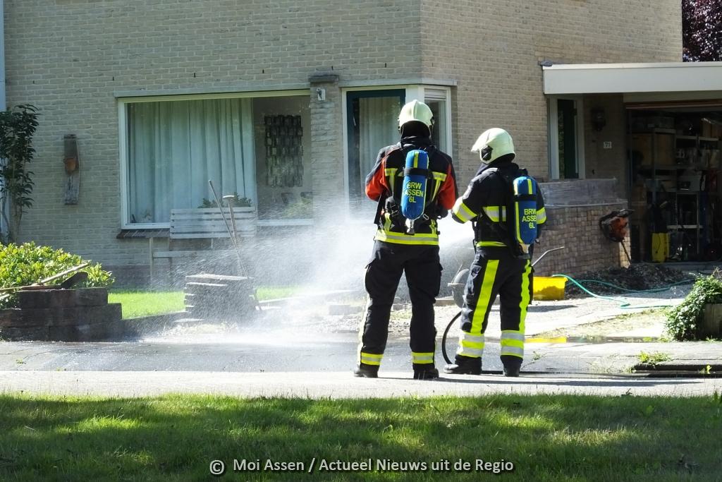 Video: Gaslekkage aan de Hooibeemd in Asser wijk Marsdijk