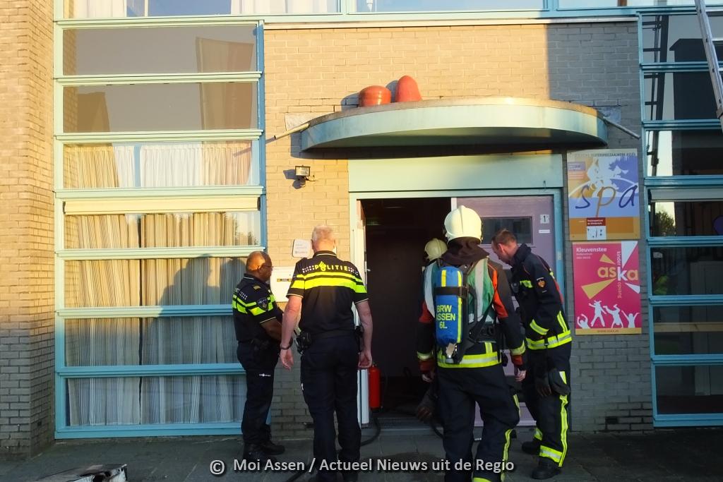 Brand bij peuterspeelzaal de Paddestoel aan Kleuvenstee in de Asser wijk Marsdijk