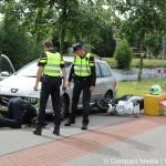 Ongeval tussen auto en pizzabezorger in Assen