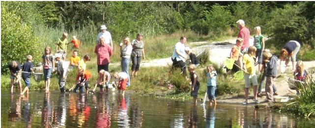 """Natuurspelweek van de Kroezehof in teken van """"Water van levensbelang """"."""
