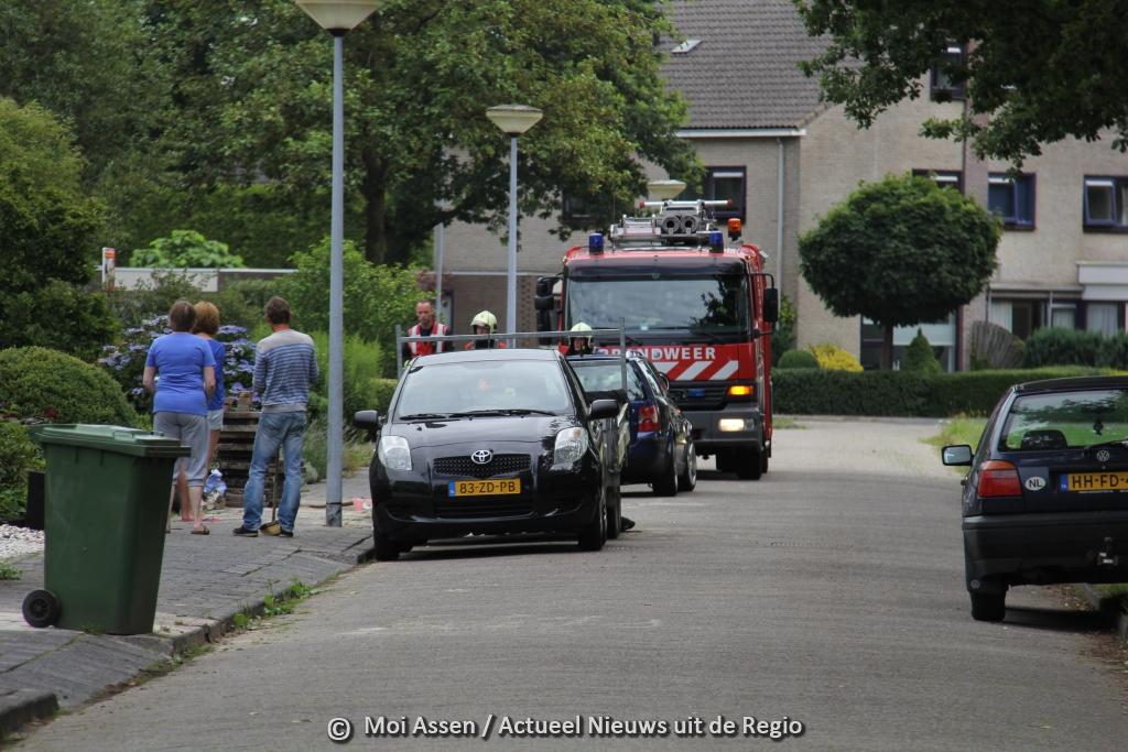 Brandweer van Assen gealarmeerd voor gaslekkage
