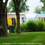 Verwijdering woonwagen in Marsdijk in Assen  begonnen
