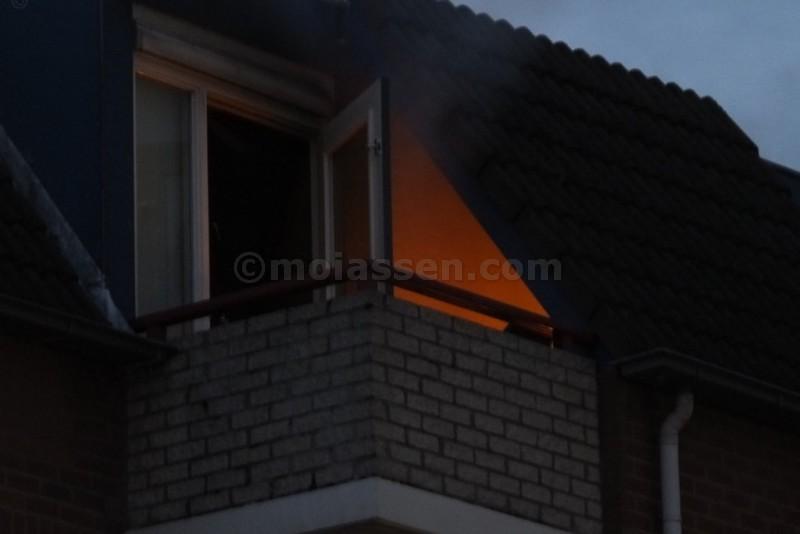 Woningbrand in flat Groningerstraat te Assen