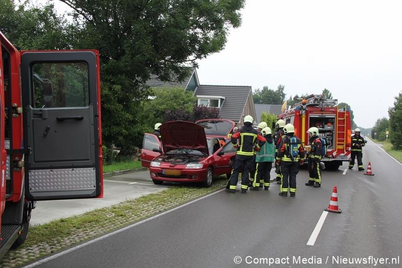 Autobrand op de Norgervaart in Huis ter Heide
