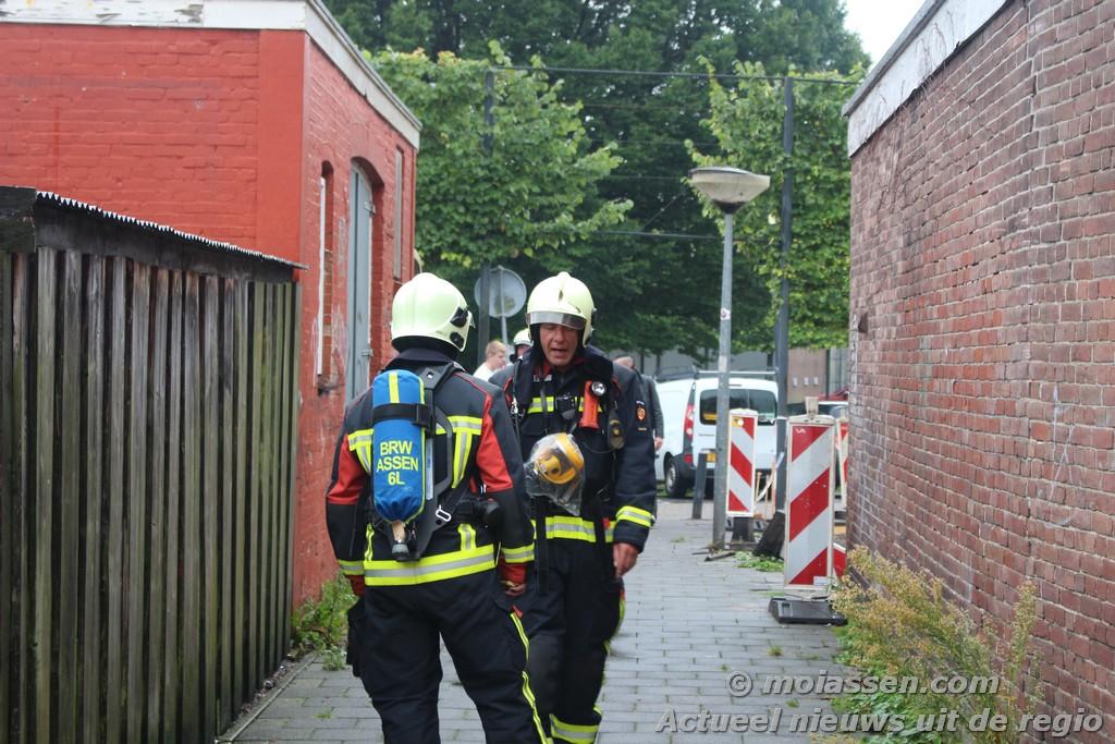 Brandgerucht Rolderstraat in Assen.