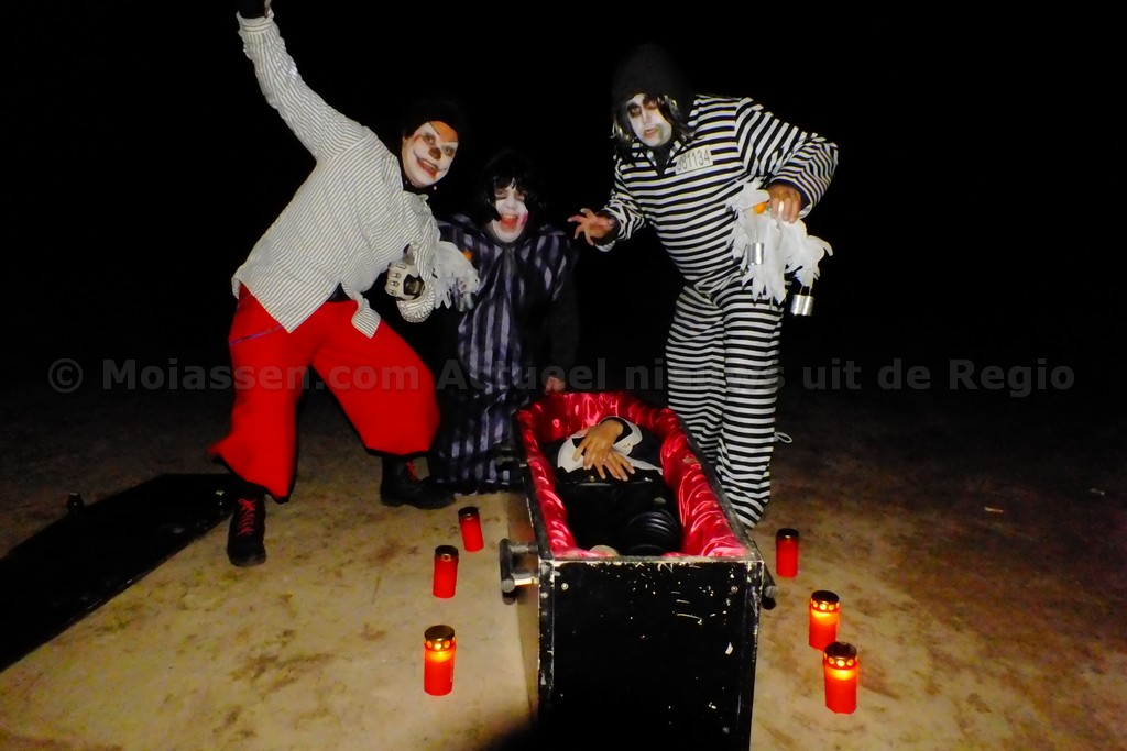Spooktocht bij baggelhuizerplas in Assen