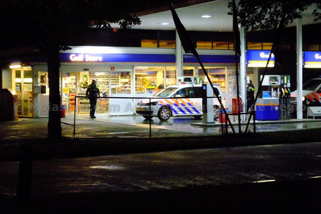 De politie pakt verdachte na overval op Gulf-tankstation in Assen(update)