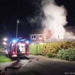 VIDEO: Brand in tuinhuisje aan Salland in Assen