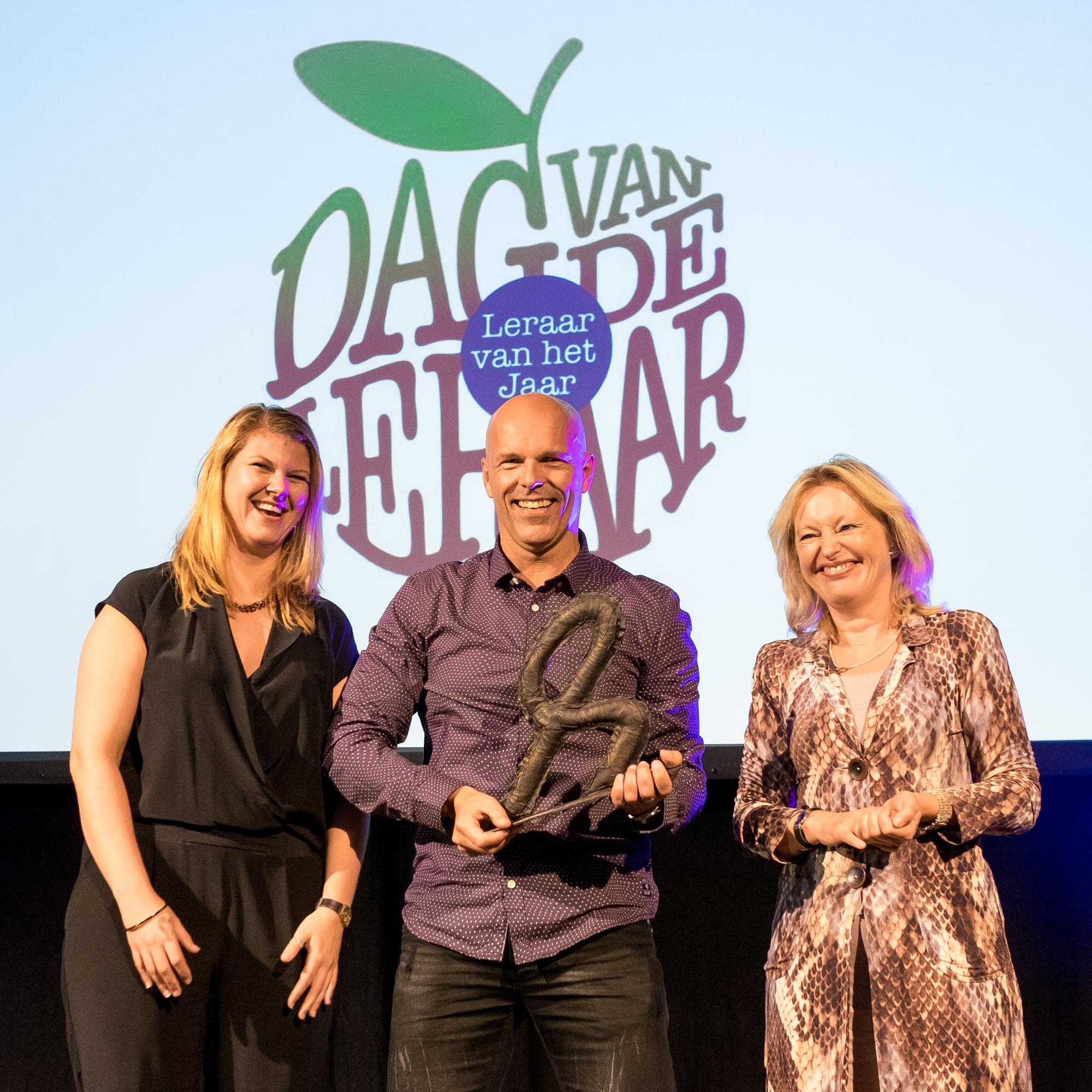 Diederick de Vries gekozen tot docent van het jaar van het Drenthe College