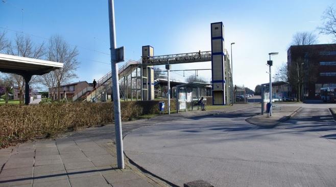 Tijdelijke voetgangersbrug station Assen