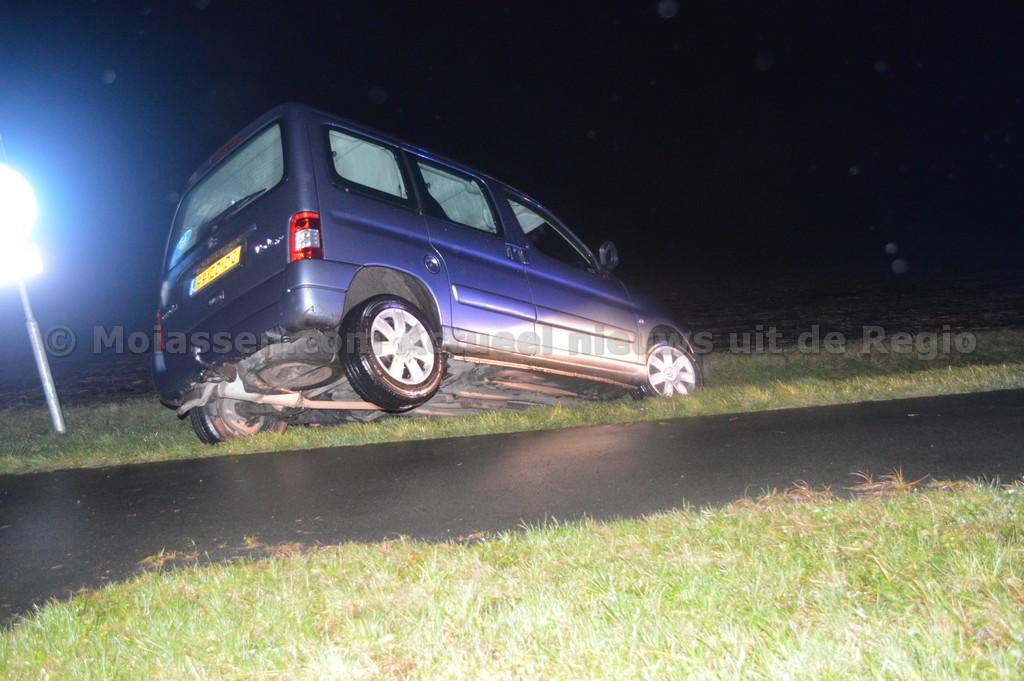 Eenzijdig verkeersongeval op de Gasterenseweg nabij Loon