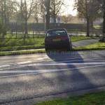 Klein ongeval op balkenweg in Assen