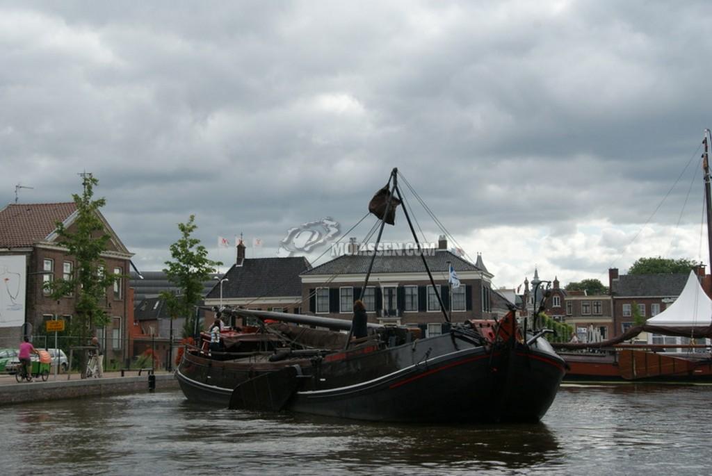 Historische schepen in centrum van Assen