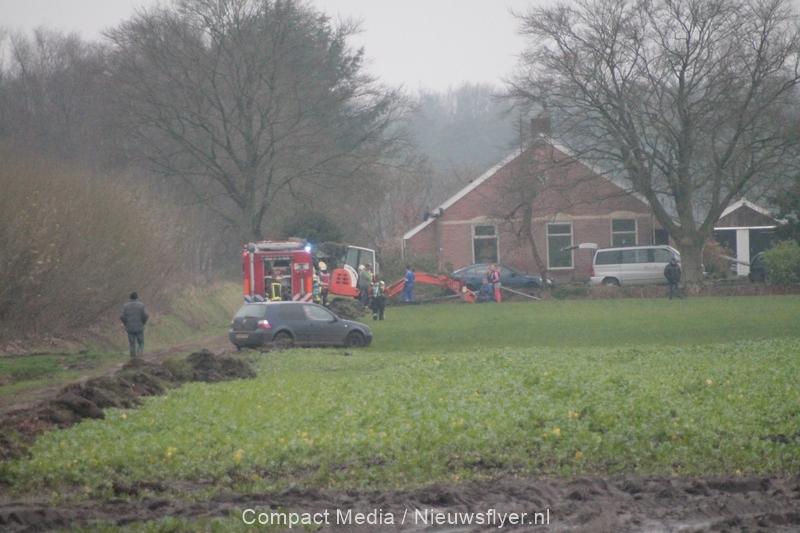 Gaslekkage als gevolg van werkzaamheden in Huis ter Heide