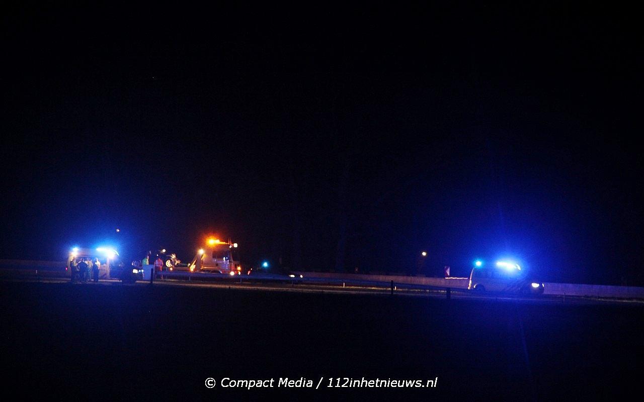 Weer een ongeval op de A28 nabij Vries