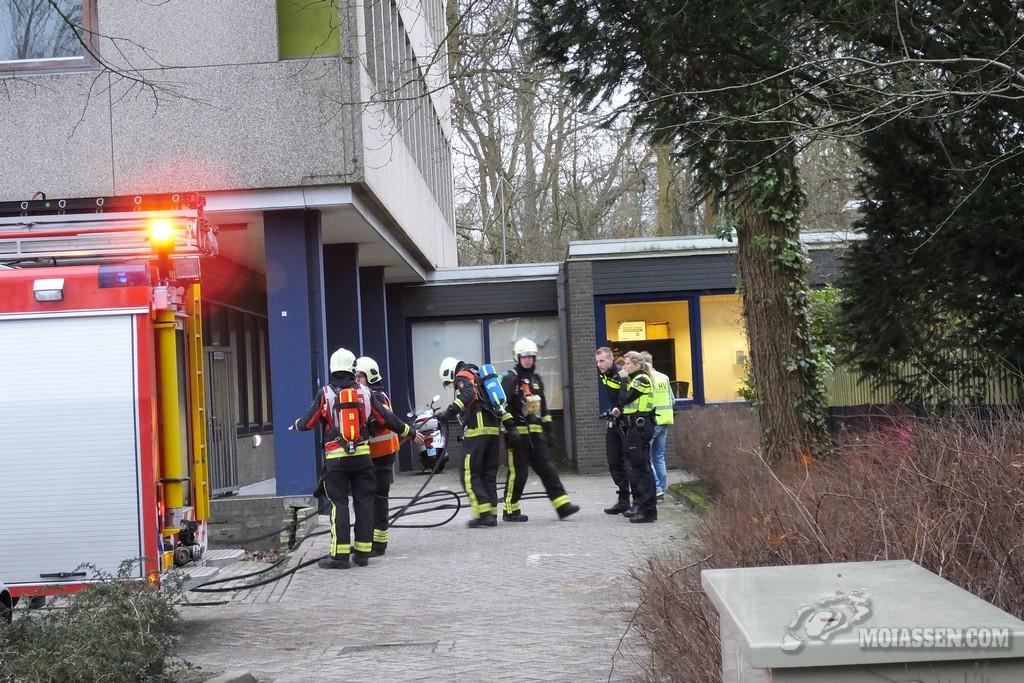 Rookmelder af gegaan bij Werkplein Baanzicht Assen (video)
