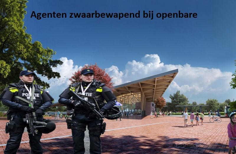 Agenten zwaarbewapend bij openbare plekken