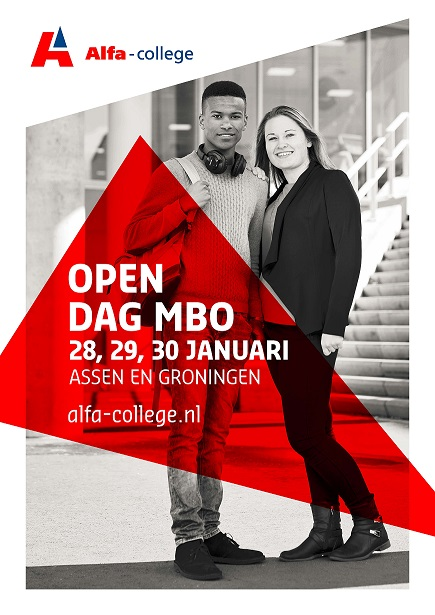 Open dag MBO Alfa-college Assen donderdag 28 januari