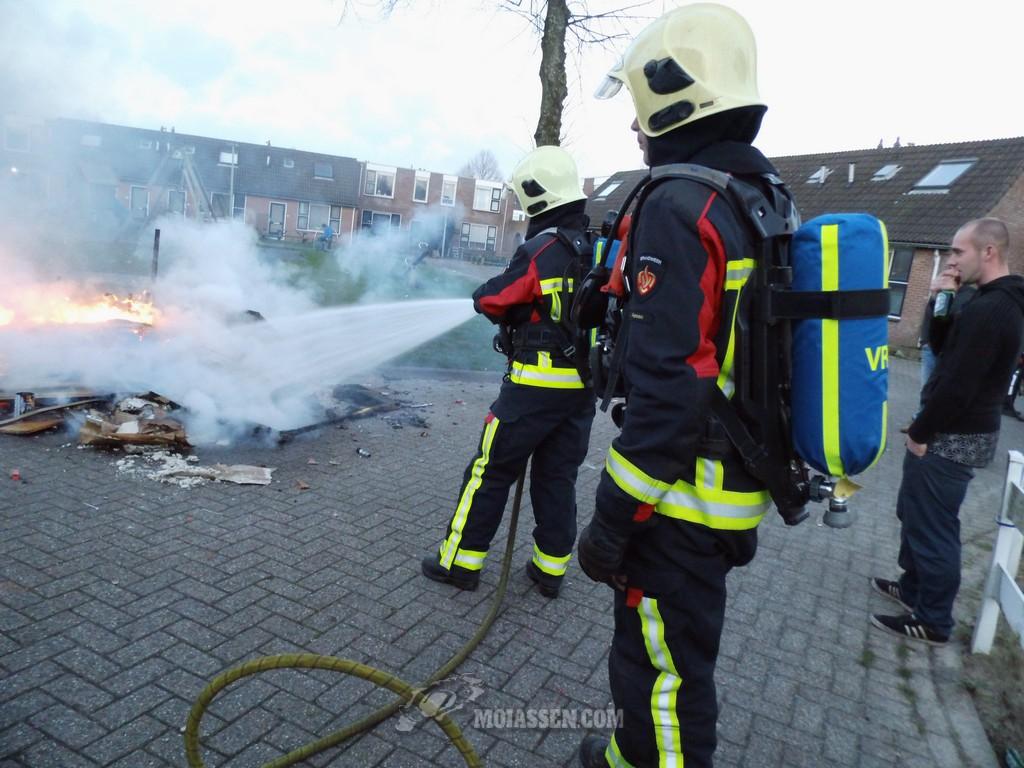 Brandweer heen-en-weer met Oud en Nieuw brandjes